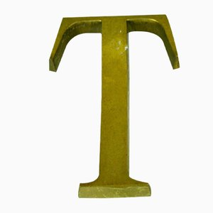 Bronze Letter T Advertising Sign, 1950s