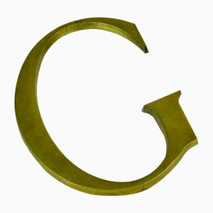 Bronze Letter G Advertising Sign, 1950s