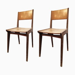 Mid-Century Beech Desk Chairs, Set of 2