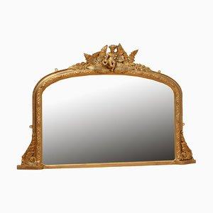 Kleiner viktorianischer Spiegel in Overmantel-Optik