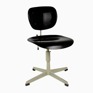 Industrial Steel and Plastic Desk Chair, 1970s