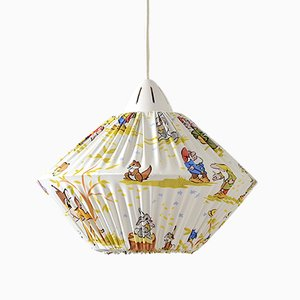 Childrens Room Ceiling Lamp with Walt Disney Decoration, 1950s