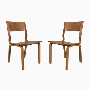 Laminated Oak Saint Catherines Desk Chairs by Arne Jacobsen for Fritz Hansen, 1960s, Set of 2