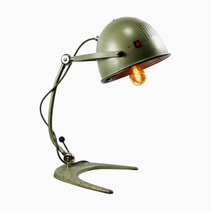 Vintage Industrial Green Metal Medical Table Lamp