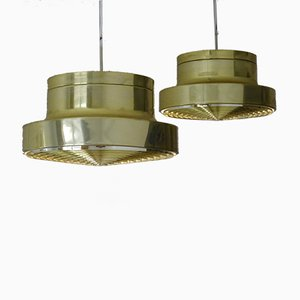 Mid-Century Scandinavian Brass Ceiling Lamp, 1960s