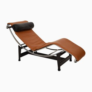 Leather Model LC4 Chaise Lounge by Le Corbusier & Charlotte Perriand for Cassina, 1990s