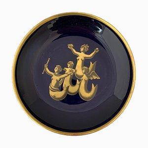 Piatto decorativo Migrazione delle Sirene di Gio Ponti per Richard Ginori, anni '80