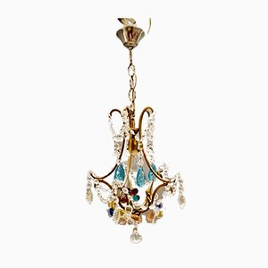 Vintage Murano Glass Flower Chandelier, 1950s