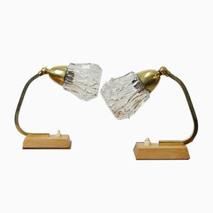 Mid-Century Table Lamps, Set of 2