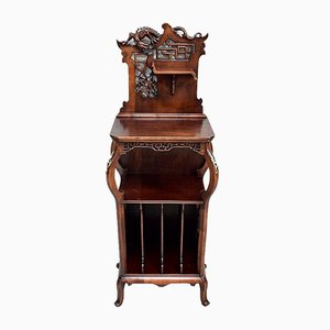 Antique Beech Music Cabinet Attributed to G. Viardot, 1900s