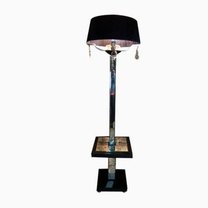 Art Deco Floor Lamp with Beveled Mirror