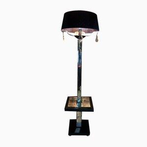 Art Deco Stehlampe mit Angeschrägtem Spiegel