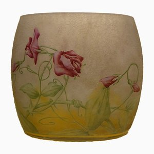 Vase Antique Art Déco en Cameo de Daum Nancy