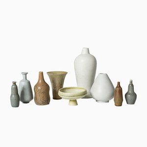 Stoneware Vases by Gunnar Nylund for Rörstrand, 1950s, Set of 9
