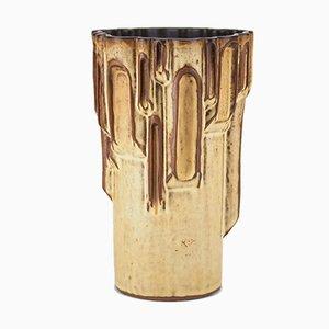 Brutalistische Vase von Graham Alcock für Shelf Pottery, 1970s