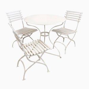 Set da tavolo e sedie da giardino antico, inizio XX secolo, set di 4