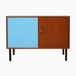 Kleines Sideboard aus Teak und Grauem Resopal, 1960er