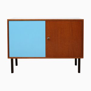 Small Teak and Gray Formica Sideboard, 1960s