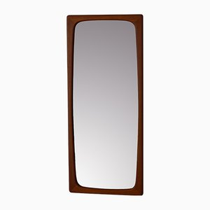 Danish Vintage Teak Mirror with organically formed Frame, 1960s