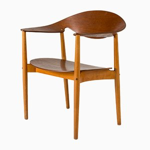 Metropolitan Chair by Ejnar Larsen & Aksel Bender for Fritz Hansen, 1950s