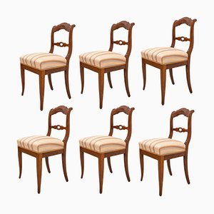19th Century Biedermeier German Dining Chairs, Set of 6