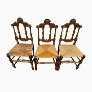 French Farmhouse Dining Chairs, Set of 8