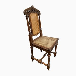 Antique French Bergere Farmhouse Dining Chairs, Set of 6