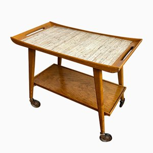 Wooden Tea Serving Trolley from Opal, 1950s