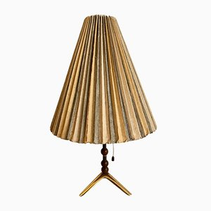 Table Lamp with Foot in Brass, 1950s