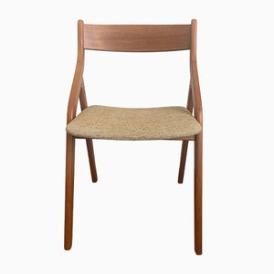Danish Folding Chair in Teak with Seat Cover in Fabric, 1970s