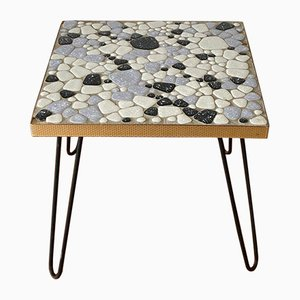 Plant Stool with Mosaic Plate on Hairpin Legs, 1950s