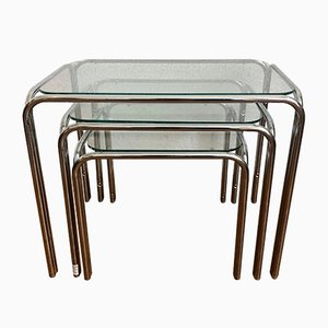 Chrome Nesting Tables, 1970s