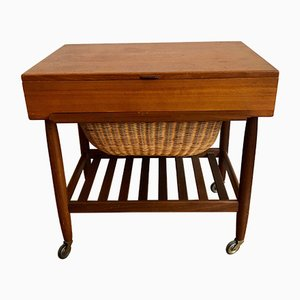 Wooden Sewing Box by Ejvind Johansson, 1960s