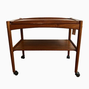 Danish Teak Serving Trolley by Poul Hundevad, 1950s