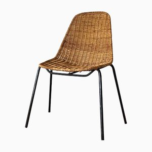 Basket Wicker Chair by Gian Franco Legler, 1960s