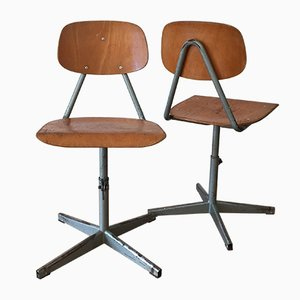 Industrial Workshop Chairs, 1970s, Set of 2