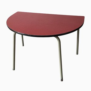 Semi-Circular Table with Resopal Coating and Steel Tube Frame, 1960s