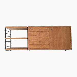 String Shelf with Cabinet Element, 1960s
