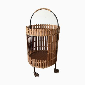 Wooden Serving Trolley, 1960s