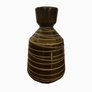 Large Boho Fat Lava Ceramic Floor Vase, 1970s