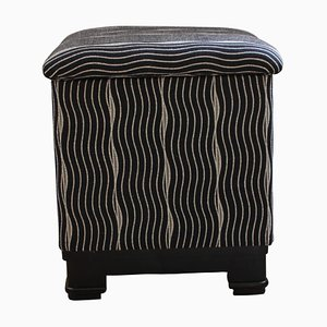 French Art Deco Stool or Pouf with Fold-Up Seat, 1930s