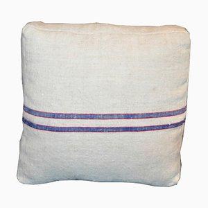 Blau Gestreifte Mid-Century Kissen, 2er Set