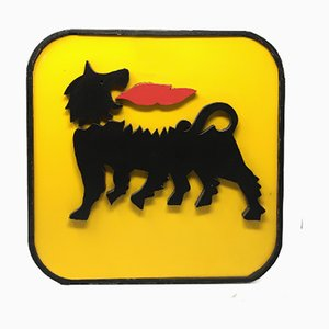 Wooden Agip Sign, 1960s