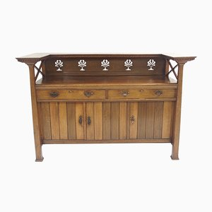 Antique Arts & Crafts Oak Sideboard