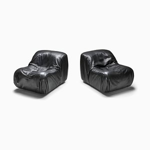 Vintage Black Leather Model DS41 Lounge Chairs from de Sede, Set of 2