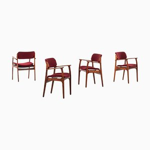 Danish Rosewood Model OD 50 Armchairs by Erik Buch for Odense Maskinsnedkeri, 1957, Set of 4