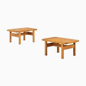 Tavolini di Børge Mogensen per Fredericia Stolefabrik, Danimarca, anni '50, set di 2