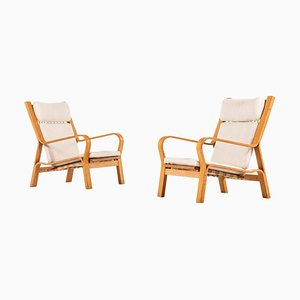 Danish GE-671 Easy Chairs by Hans J. Wegner for Getama, 1960s, Set of 2