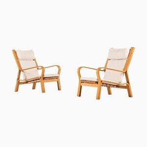 Danish GE-671 Easy Chairs by Hans J. Wegner for Getama, 1960s, Set of 2