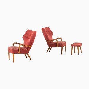 Dänische Armlehnstühle von Ib Madsen & Acton Schubell, 1950er, 3er Set